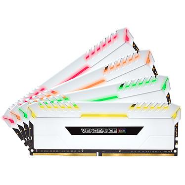 Corsair Vengeance RGB Series 32 Go (4x 8 Go) DDR4 3000 MHz CL16 - Blanc