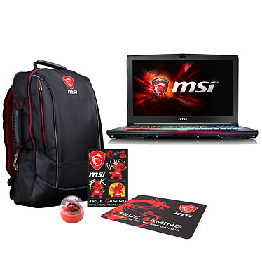 "MSI GE62 6QF-242FR Apache + Pack MSI Back to School OFFERT ! Intel Core i5-6300HQ 8 Go 1 To 15.6"" LED Full HD NVIDIA GeForce GTX 970M Graveur DVD Wi-Fi AC/Bluetooth Webcam Windows 10 Famille 64 bits (garantie constructeur 2 ans)"