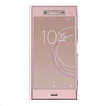 Sony Style Cover Touch SCTG50 Rose Sony Xperia XZ1 Etui avec rabat latéral transparent tactile pour Sony Xperia XZ1