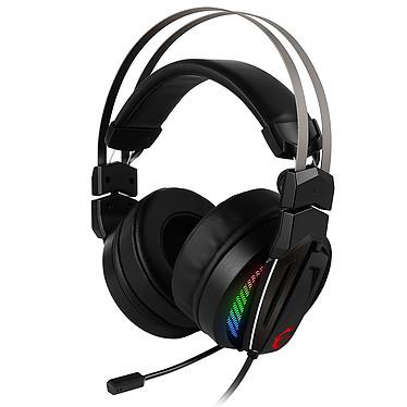 MSI Immerse GH70 Auriculares de gaming Hi-Res - Sonido surround 7.1 - circumaural cerrado - micrófono plegable - retroiluminación LED RGB