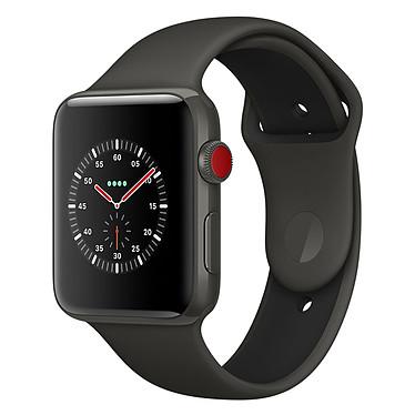 Apple Watch Edition Series 3 GPS + Cellular Céramique Gris Sport Gris/Noir 38 mm Montre connectée - Céramique - Etanche 50 m - GPS/GLONASS - Cardiofréquencemètre - Ecran Retina OLED 340 x 272 pixels - Wi-Fi/Bluetooth 4.2 - watchOS 4 - Bracelet Sport 38 mm