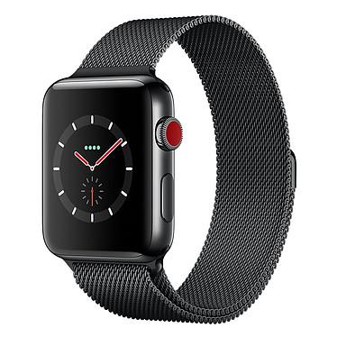 Apple Watch Series 3 GPS + Cellular Acier Noir Milanais Noir Sidéral 42 mm