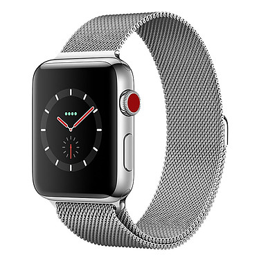 Apple Watch Series 3 GPS + Cellular Acier Milanais 38 mm