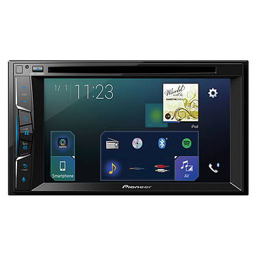 "Pioneer AVH-Z2000BT Lecteur multimédia CD / DVD / DivX MP3 écran tactile 6.2"", USB, compatible Bluetooth, Android, iPod/iPhone, AppRadio Mode+ Waze et Apple CarPlay"