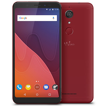 "Wiko View 16 Go Rouge Smartphone 4G-LTE Dual SIM - Snapdragon 425 Quad-Core 1.4 GHz - RAM 3 Go - Ecran tactile 5.7"" 720 x 1440 - 16 Go - NFC/Bluetooth 4.2 - 2900 mAh - Android 7.1"
