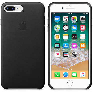 Apple Coque en cuir Noir Apple iPhone 8 Plus / 7 Plus Coque en cuir pour Apple iPhone 8 Plus / 7 Plus