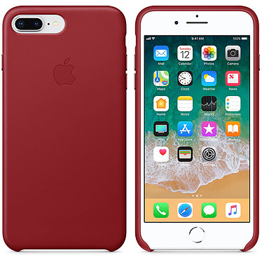 Apple Coque en cuir (PRODUCT)RED Apple iPhone 8 Plus / 7 Plus Coque en cuir pour Apple iPhone 8 Plus / 7 Plus