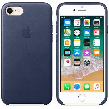 Apple Coque en cuir Bleu nuit Apple iPhone 8 / 7 Coque en cuir pour Apple iPhone 8 / 7