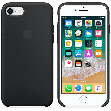 Apple Coque en silicone Noir Apple iPhone 8 / 7