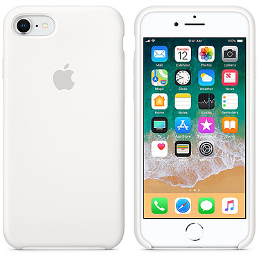 Apple Coque en silicone Blanc Apple iPhone 8 / 7 Coque en silicone pour Apple iPhone 8 / 7
