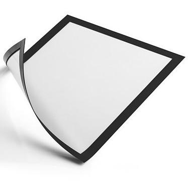 Durable Sachet de 5 cadres Duraframe A4 noir Sachet de 5 cadres d'affichage magnétiques format A4 bords coloris noir