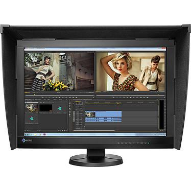 """EIZO 24"""" LED - ColorEdge CG247X 1920 x 1200 pixels - 10ms (gris à gris) - Format large 16/10 - Dalle IPS - Pivot - HDMI - DisplayPort - Hub USB - Noir"""