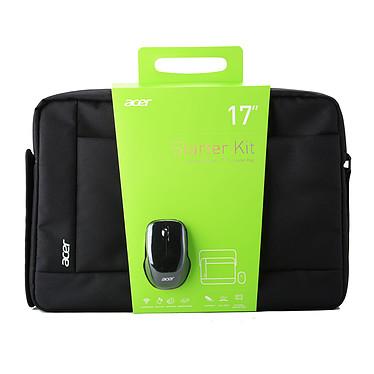 """Acer Notebook Starter Kit 17"""" Sacoche pour notebook (jusqu'à 17'') + 1 souris sans fil incluse"""