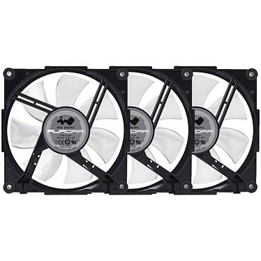 IN WIN Aurora Noir/Blanc Pack de 3 Ventilateurs de boîtier 120 mm LED RVB
