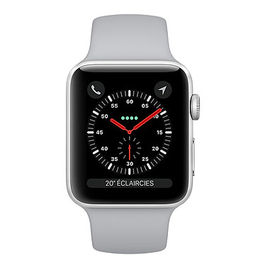 Apple Watch Series 3 GPS Aluminium Argent Sport Nuage 38 mm