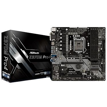 ASRock Z370M PRO4 Carte mère Micro ATX Socket 1151 Intel Z370 Express - 4x DDR4 - SATA 6Gb/s + M.2 - USB 3.1 - 2x PCI-Express 3.0 16x
