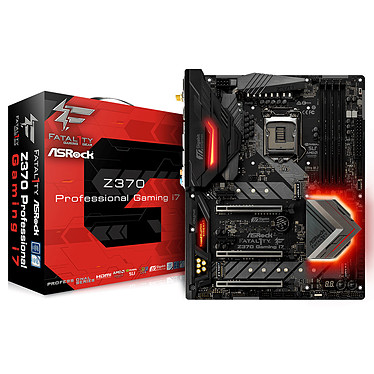 ASRock Z370 Professional Gaming i7 Carte mère ATX Socket 1151 Intel Z370 Express - 4x DDR4 - SATA 6Gb/s + M.2 - USB 3.0 - 3x PCI-Express 3.0 16x