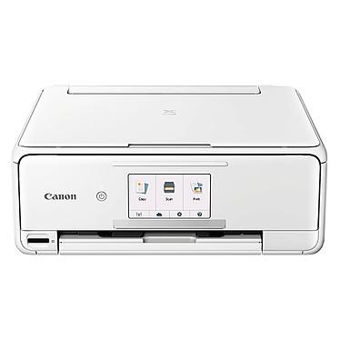 Canon PIXMA TS8151 Blanc Imprimante Multifonction jet d'encre couleur 3-en-1 avec écran tactile (USB / Cloud / Wi-Fi / Bluetooth / Carte SD)