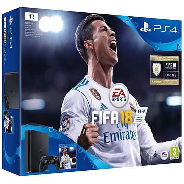 Sony PlayStation 4 Slim (1 To) + FIFA 18 : Édition Ronaldo
