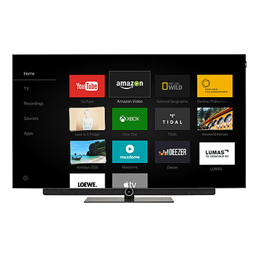 "Loewe Bild 3.55 OLED Gris Clair Téléviseur OLED Ultra HD 55"" (140 cm) 16/9 - 3840 x 2160 pixels - Ultra HD 2160p - HDR - Wi-Fi - Bluetooth - Barre de son intégrée (dalle native 100 Hz)"