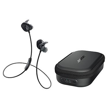 Bose SoundSport wireless Noir + Étui de chargement Écouteurs sport intra-auriculaires sans fil Bluetooth et NFC avec télécommande + Étui de chargement