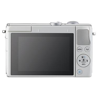 Canon EOS M100 Blanc + EF-M 15-45 mm IS STM + Étui turquoise pas cher
