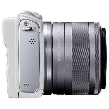 Acheter Canon EOS M100 Blanc + EF-M 15-45 mm IS STM + Étui turquoise