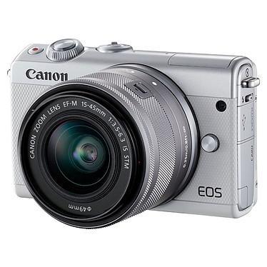 Avis Canon EOS M100 Blanc + EF-M 15-45 mm IS STM + Étui turquoise