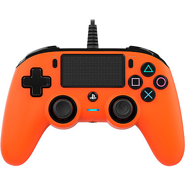 Nacon Gaming Compact Controller Orange Manette gaming filaire pour PlayStation 4