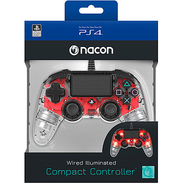 Nacon Gaming Illuminated Compact Controller Rouge  pas cher