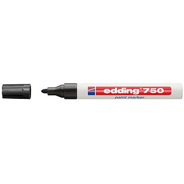 Edding 750 noir Marqueur peinture permanent avec pointe ogive 2-4 mm noire