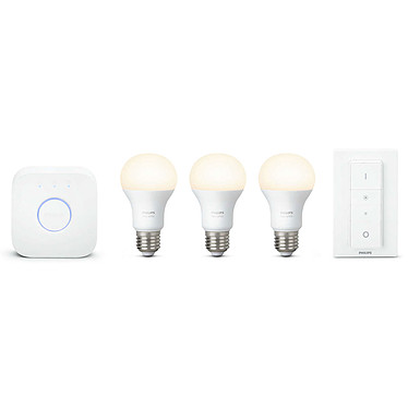 Philips Hue White Kit de démarrage E27 + Interrupteur