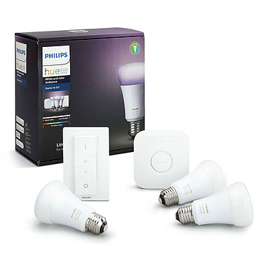 Avis Philips Hue White & Color Ambiance Kit de démarrage E27