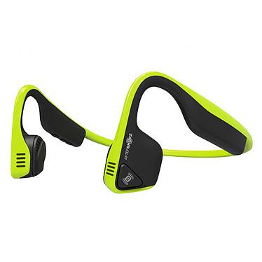 AfterShokz Trekz Titanium Vert Casque tour de cou sans fil à conduction osseuse - Conception ouverte - Bluetooth - Microphone - Certification IP55