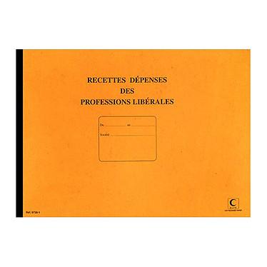 Elve Piqûre Journal Recettes/Dépenses pour professions libérales 270 x 370 mm Registre comptable, 80 pages
