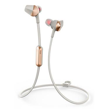Fitbit Flyer Gris lune  Écouteurs intra-auriculaires sportifs sans fil Bluetooth avec télécommande et microphone