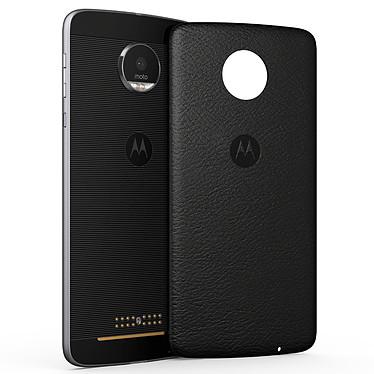 Motorola Mods Coque Cuir Noir Moto Z/Z Play v2 Coque en cuir avec aimants intégrés pour Motorola Moto Z/Z Play v2