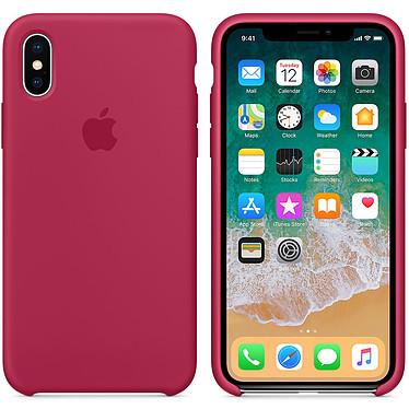 Apple Coque en silicone Rose rouge Apple iPhone X Coque en silicone pour Apple iPhone X