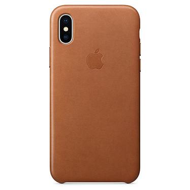 Avis Apple Coque en cuir Havane Apple iPhone X