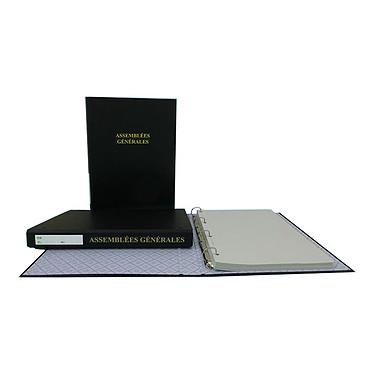 Elve Reliure Assemblées Générales avec recharge Classeur 4 anneaux + 100 feuillets foliotés