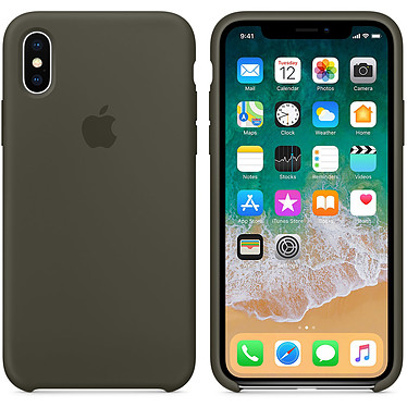 Apple Carcasa de silicona Oliva oscura Apple iPhone X Funda de silicona para Apple iPhone X