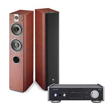 Teac AI-301DA Noir + Focal Chorus 716 Rosewood Amplificateur stéréo de classe D, 2 x 60 Watts avec Bluetooth et USB + Enceinte colonne (par paire)