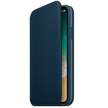 Apple Étui Folio en cuir Bleu cosmos Apple iPhone X Étui folio en cuir pour Apple iPhone X