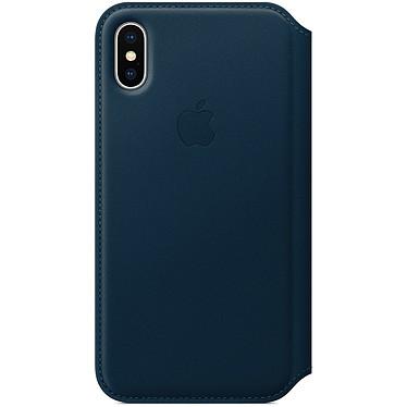Avis Apple Étui Folio en cuir Bleu cosmos Apple iPhone X