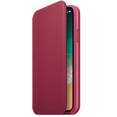 Apple Funda de piel Folio Red Fruits Apple iPhone X Funda de piel para Apple iPhone X