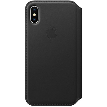 Avis Apple Étui Folio en cuir Noir Apple iPhone X