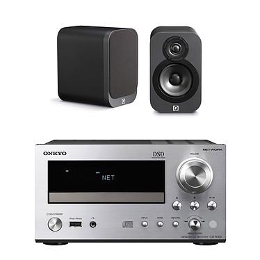 Onkyo CR-N765 Argent + Q Acoustics 3010 Graphite