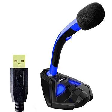 KLIM Voice (bleu) Microphone USB pour streaming, gaming, prise de son... (compatible avec tous les OS: PC, Mac, Linux, PS4...)