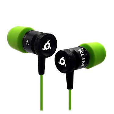 KLIM Fusion (vert) Écouteurs intra-auriculaires universels (gaming, musique...) - mousse à mémoire de forme - microphone avec filtrage des bruits de fond - télécommande intégrée - compatible PC, Mac, smartphone, console...