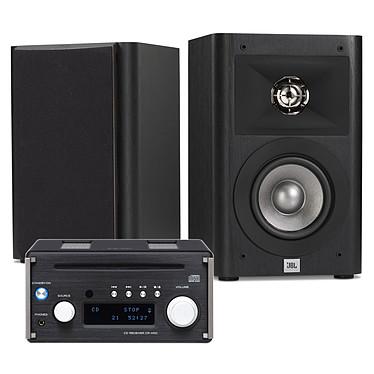 Teac CR-H101 Noir + JBL Studio 220 Noir Micro-chaîne CD/MP3/FM RDS, DAC USB 24/192kHz, Hi-Res Audio, Bluetooth aptX, amplificateur 2 x 26W, sortie subwoofer + Enceinte bibliothèque 2 voies 10 cm (par paire)